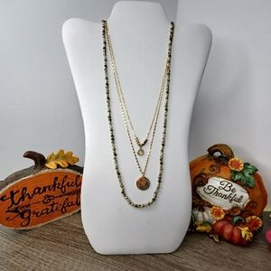 NWT TORRID GOLD FALL LONG LAYERED NECKLACE NWT
